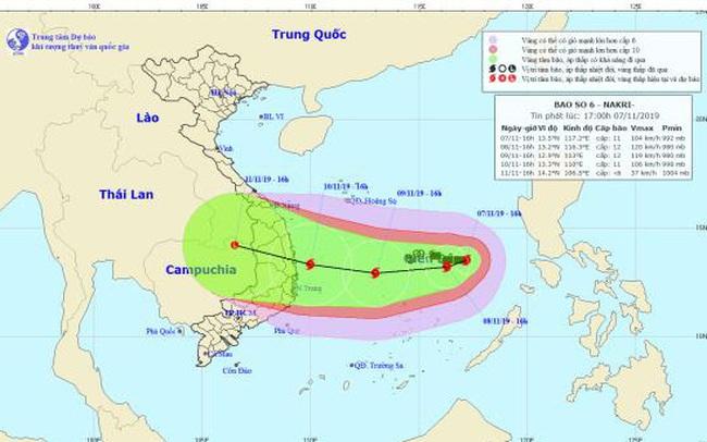 Bão Nakri tăng tốc hướng vào Quảng Ngãi - Khánh Hòa