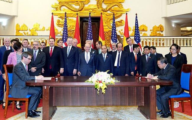 Việt Nam và Mỹ vừa ký 5 thoả thuận kinh doanh lớn trị giá nhiều tỷ USD
