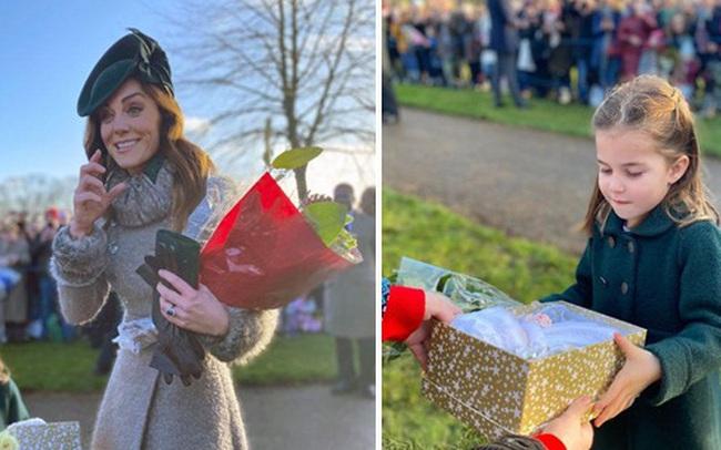 Vắng em dâu Meghan Markle, Công nương Kate nở nụ cười tỏa nắng, tâm điểm chú ý là Công chúa Charlotte nổi bật như một ngôi sao