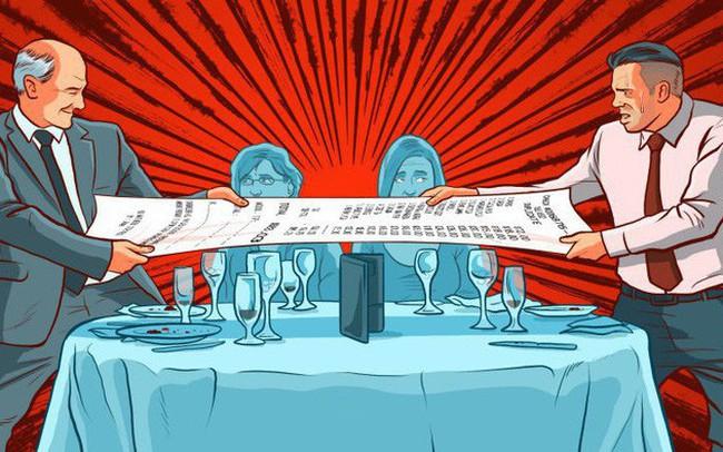 Đi ăn hàng, ai phải trả tiền: Cuộc chiến tranh giành hóa đơn giữa những người muốn tỏ ra mình hào phóng không hồi kết