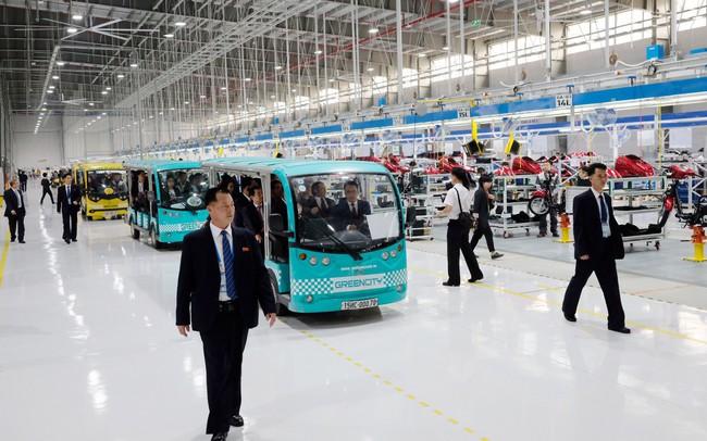 Toàn cảnh phái đoàn Triều Tiên đến thăm nhà máy sản xuất VinFast và VinEco - ảnh 1