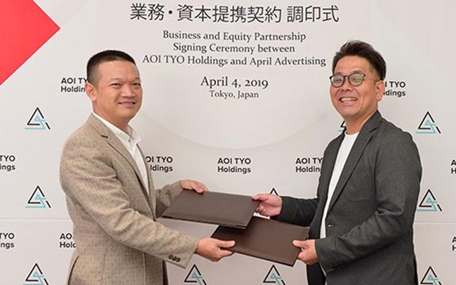 Tập đoàn AOI TYO Holdings (Nhật Bản) và Công ty Quảng cáo April Advertising (Việt Nam) thông báo việc đầu tư và liên kết kinh doanh.