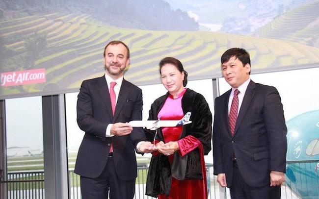 Chủ tịch Quốc hội Nguyễn Thị Kim Ngân cùng Vietjet nhận bàn giao máy bay thế hệ mới A321neo tại Toulouse, Pháp