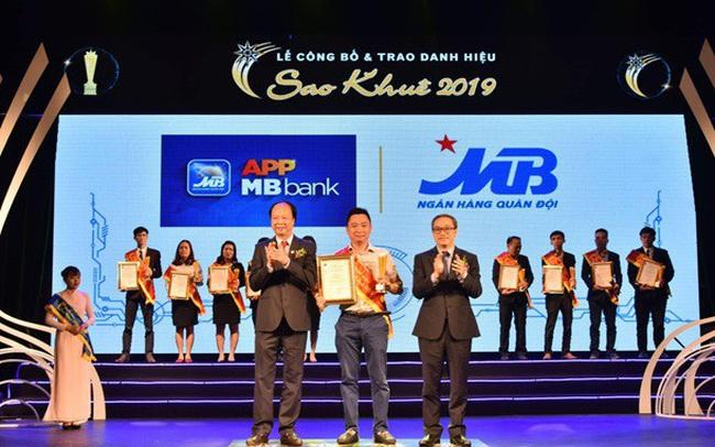 """App MBBank là App ngân hàng số duy nhất đạt danh hiệu """"Sao Khuê 2019"""""""