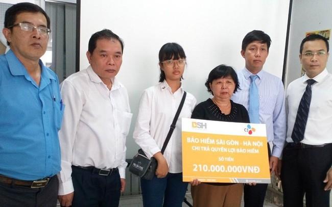 Bảo hiểm BSH chi trả 210 triệu đồng cho cán bộ thuộc Tập đoàn CJ Hàn Quốc