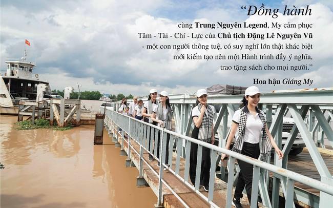Những câu nói ấn tượng của người đẹp Việt khi tặng sách tại Đồng bằng Sông Cửu Long