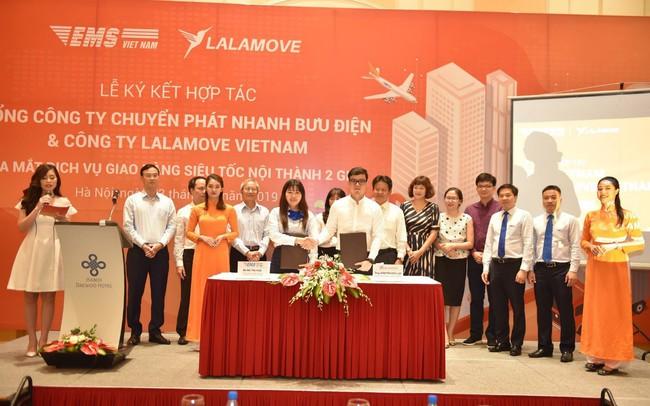 EMS hợp tác với Lalamove Việt Nam triển khai dịch vụ giao hàng nhanh