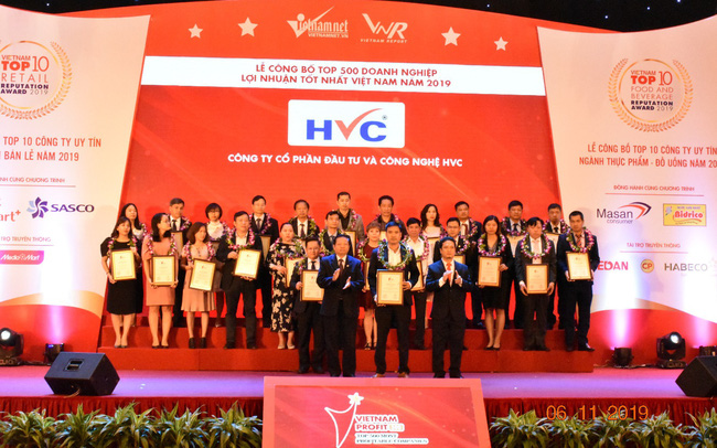 HVC Group nhận chứng nhận vinh danh:  Top 500 doanh nghiệp lợi nhuận tốt nhất Việt Nam năm 2019