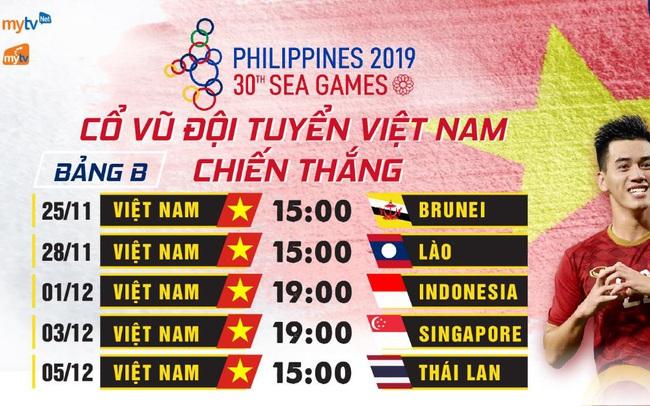 MyTV đồng hành cùng U22 Việt Nam trong hành trình chinh phục ngôi vàng tại Sea Games 30