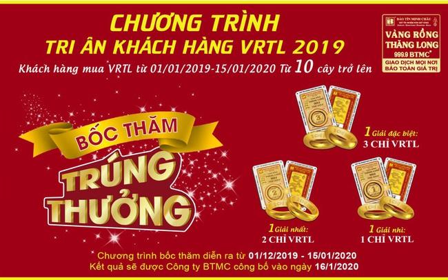 Bảo Tín Minh Châu tri ân khách hàng – Tặng vàng rồng Thăng Long 999.9