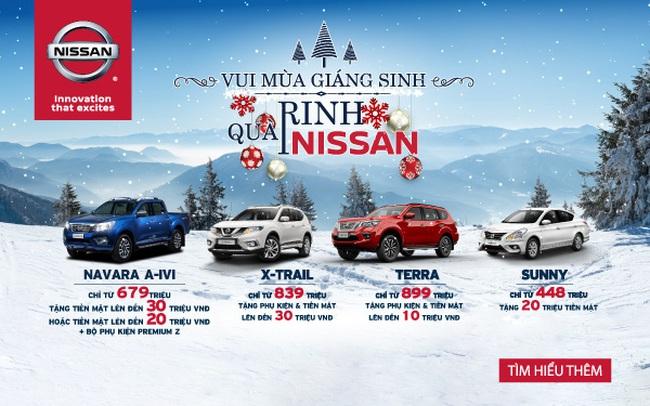 Không chỉ giảm giá, Nissan Việt Nam còn tung hàng loạt ưu đãi cho khách hàng mua xe trong tháng 12