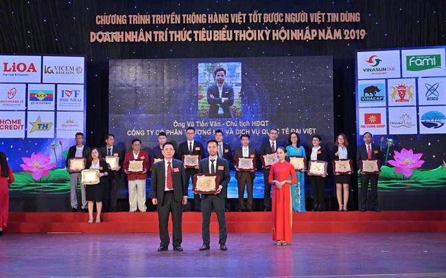 Chủ tịch Adavigo Vũ Tiến Văn lọt top 20 doanh nhân xuất sắc tiêu biểu 2019