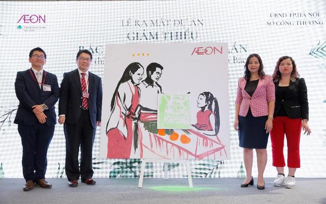 AEON Việt Nam phối hợp Sở Công Thương Hà Nội đẩy mạnh dự án giảm rác thải nhựa dùng 01 lần khu vực miền Bắc