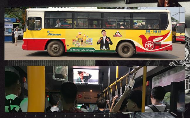 1.44 triệu khách hàng xem quảng cáo 4 lần mỗi ngày, quảng cáo video xe buýt thu hút các nhãn hàng lớn