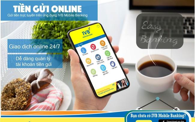 """Gửi tiền online trong """"1 nốt nhạc"""" với IVB mobile Banking"""