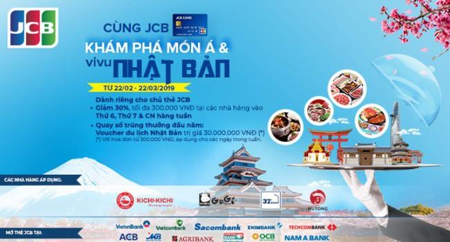 Khám phá món Á và vi vu Nhật Bản với Thẻ quốc tế JCB