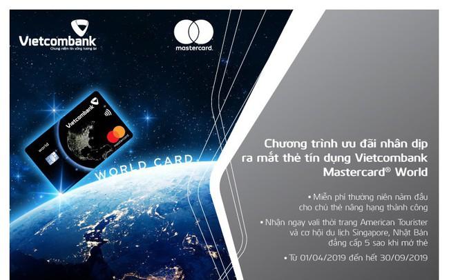 Vietcombank mạnh tay khuyến mãi dịp ra mắt thẻ Vietcombank Mastercard World