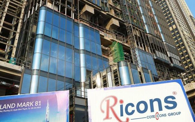 Quý 4 bất ngờ giảm sút mạnh, Ricons chỉ mới thực hiện 75% chỉ tiêu lợi nhuận với 360 tỷ đồng