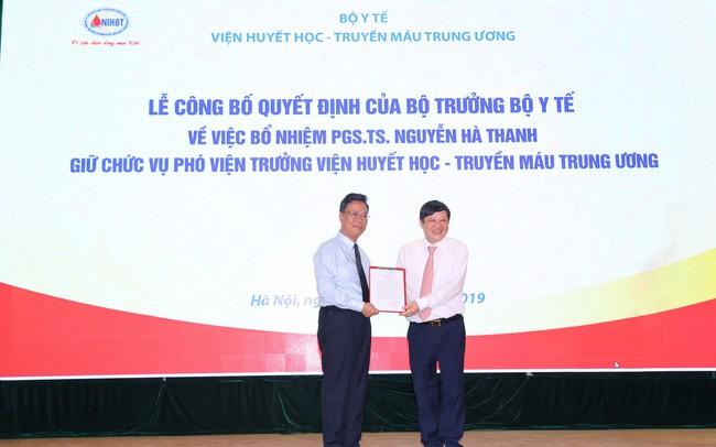 Bộ Y tế bổ nhiệm Phó Viện trưởng Viện Huyết học và Truyền máu Trung ương
