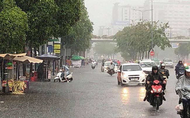 Các tỉnh miền Bắc có mưa dông trên diện rộng