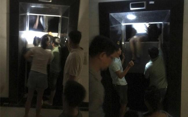Hà Nội: Hãy hùng cảnh cạy cửa thang máy giải cứu nhiều người mắc kẹt bên trong