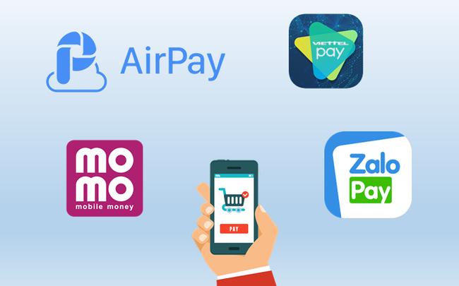"""4 """"ông lớn"""" ví điện tử Momo, ViettelPay, ZaloPay, AirPay đang thu phí như thế nào?"""