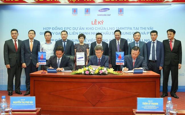 Liên danh Samsung C&T và PTSC (PVS) sẽ làm tổng thầu thi công dự án kho chứa LNG Thị Vải của PV GAS