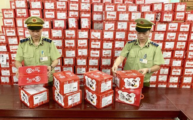 Chặn đứng hơn 1.620 kg bánh dẻo nhãn hiệu Mashu do Trung Quốc sản xuất nhập lậu