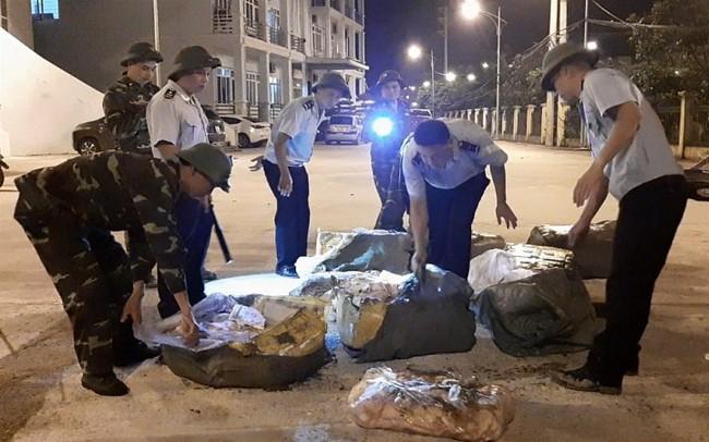 Hải quan Hữu Nghị bắt trên 500 kg nầm lợn không rõ nguồn gốc