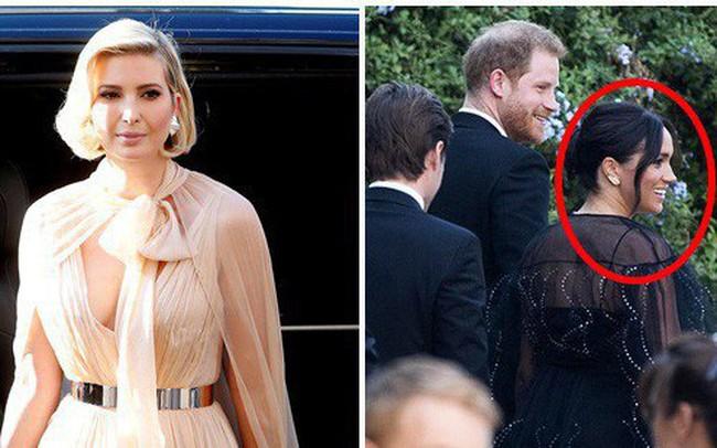 Chạm trán với con gái Tổng thống Mỹ, Meghan Markle chơi sang diện váy gần 300 triệu đi ăn cưới giữa rừng ngôi sao nhưng vẫn bị chê tơi tả