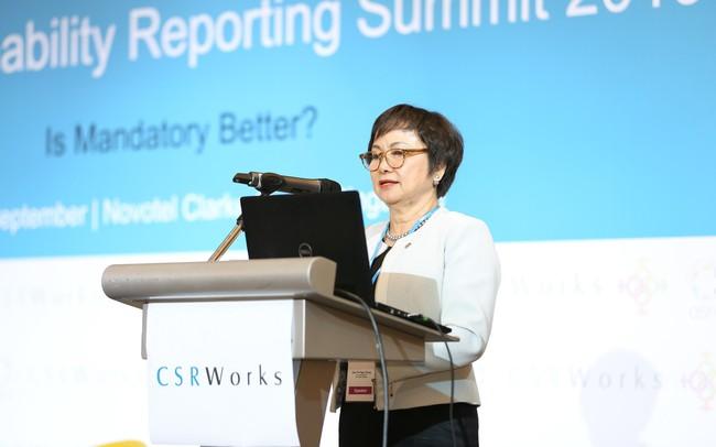"""Bà Cao Thị Ngọc Dung: """"Ưu tiên hàng đầu trong Phát triển bền vững là luôn lấy con người, đội ngũ làm trọng tâm"""""""
