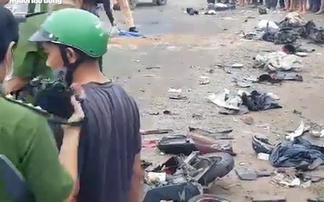 [VIDEO] - Nhân chứng kể lại vụ tai nạn giao thông kinh hoàng ở Long An