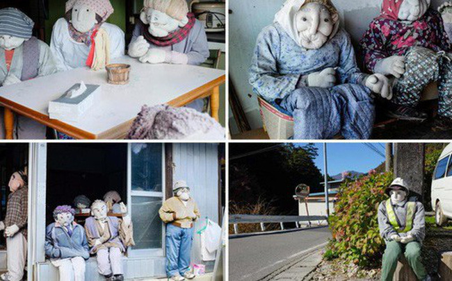 """""""Rùng mình"""" với ngôi làng làm búp bê thế chỗ người chết ở Nhật"""