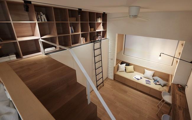 Căn hộ 22 m2 đầy đủ tiện ích với thiết kế siêu thông minh