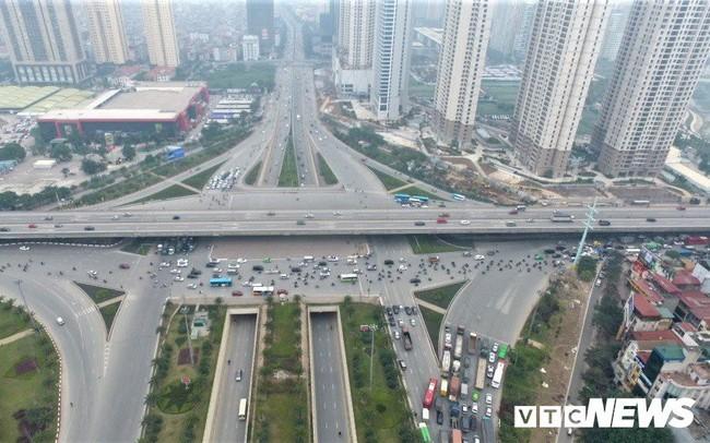 Ảnh: Những nút giao hiện đại làm thay đổi diện mạo Thủ đô nhìn từ flycam