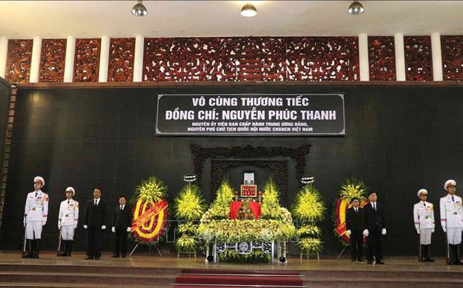 Lễ tang cấp Nhà nước nguyên Phó Chủ tịch Quốc hội Nguyễn Phúc Thanh
