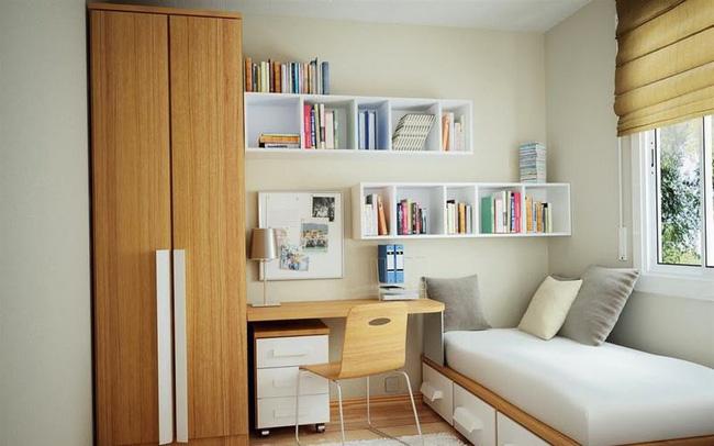 Cách thiết kế, bố trí phòng ngủ có diện tích nhỏ hẹp