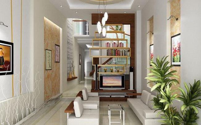 Những ý tưởng thiết kế nội thất phòng khách nhà ống năm 2019