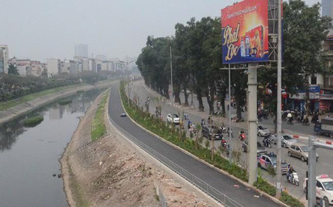 Hà Nội: Cận cảnh tuyến đường dài 4km cạnh sông Tô Lịch chỉ dành cho người đi bộ và xe đạp