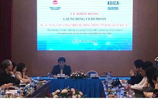 Hàn Quốc viện trợ 5,5 triệu USD xây dựng dữ liệu đầu tư cho Việt Nam