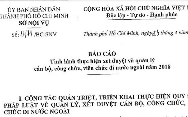 Một cán bộ Tổng Công ty Nông nghiệp Sài Gòn đi nước ngoài 11 lần trong năm
