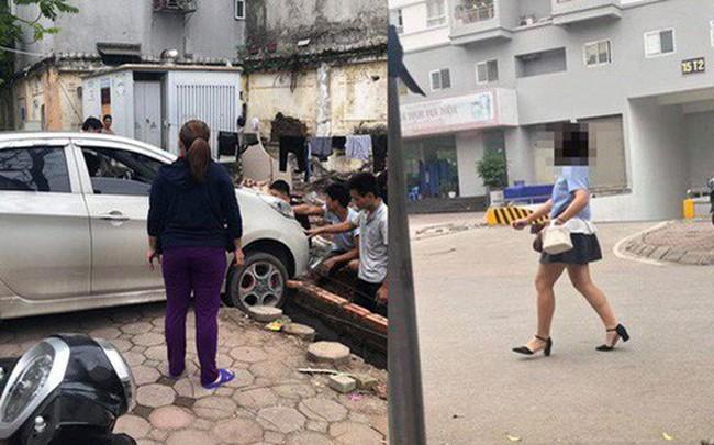 Thêm vụ nữ tài xế đạp nhầm chân ga, suýt đâm vào ba công nhân nam