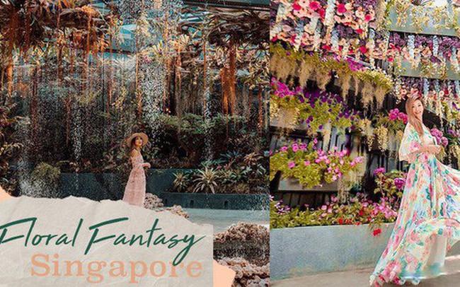 """Sau Jewel Changi, Singapore lại có thêm """"kỳ quan"""" vườn hoa treo khổng lồ khiến dân tình phải ngước lên """"mỏi cả cổ"""" để ngắm nhìn"""