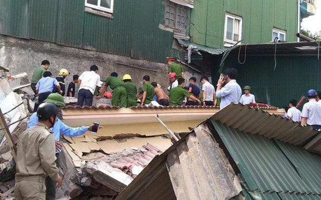 Hiện trường vụ sập nhà tại Hà Tĩnh vùi lấp người bên trong