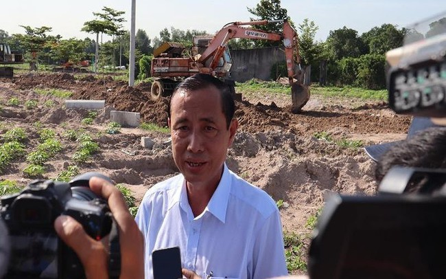 Cưỡng chế đường xây dựng trái phép trên đất nông nghiệp