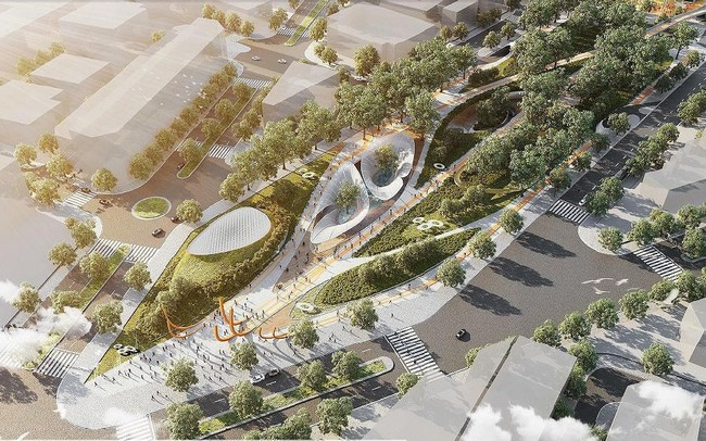 Hình hài Công viên 23-9 qua hai thiết kế đoạt giải