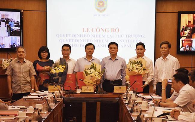Bộ Tư pháp điều động, bổ nhiệm cán bộ lãnh đạo cấp Vụ