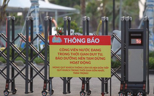 Sau vụ bé trai 6 tuổi đuối nước tử vong, công viên nước Thanh Hà đóng cửa, treo biển đang bảo dưỡng