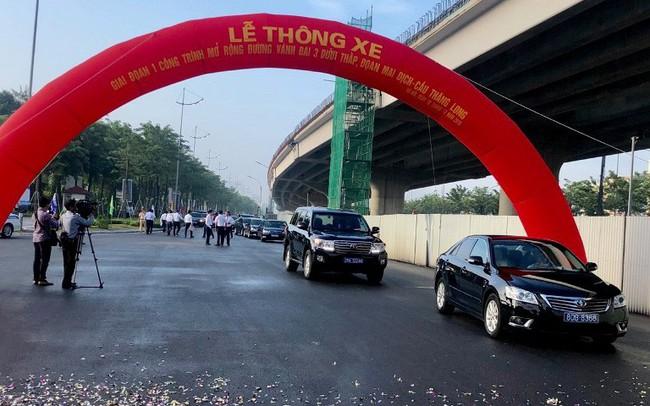 Thông xe đường vành đai Mai Dịch-Cầu Thăng Long rộng 16 làn