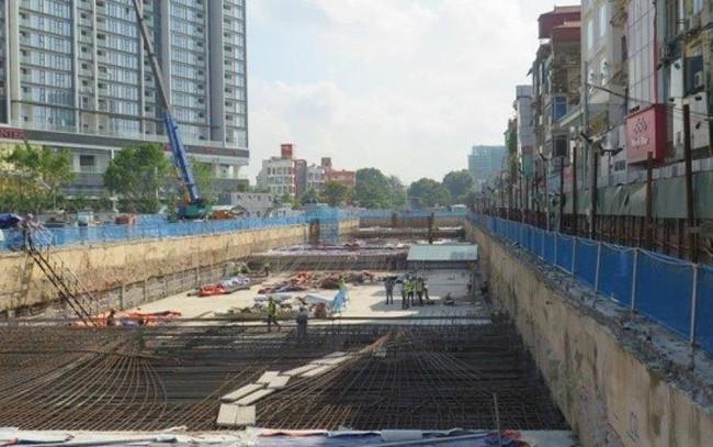 Cận cảnh thi công các ga ngầm tuyến đường sắt Nhổn - ga Hà Nội